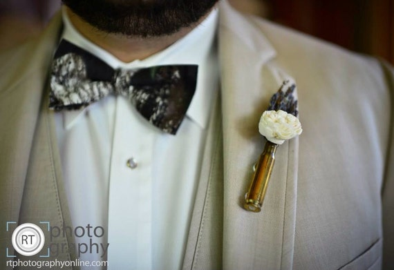 Bullet Shell Boutonniere - Bullet Casing Boutonniere - Sola Flower Bullet Casing Boutonniere