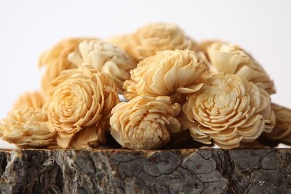 Champagne Mini Chorki Flowers - Set of 15
