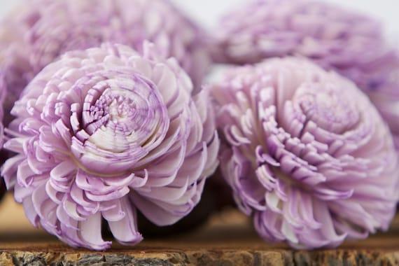 Lavender Large Chorki Sola Flowers - Set of 10, Sola Flowers, Purple Chorki Sola Flowers, Sola Flower, Wood Sola Flowers, Keepsake flowers