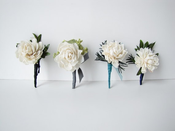 Pin on Wedding Boutonniere - Pin on Corsage, Prom Boutonniere