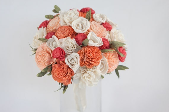 Orange Keepsake Bridesmaid Bouquet - Wedding Bouquet