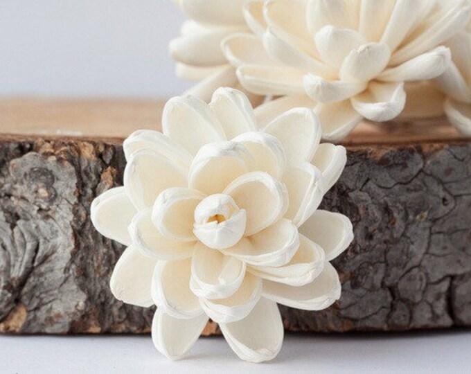 Lotus Sola Flowers - Set of 5 , Sola Flowers, Wood Sola Flowers, Balsa Wood Flowers, Craft Flowers, sola wood flowers