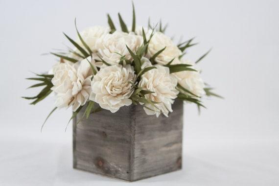 Dahlia Sola Flower Arrangement, Sola Flower Centerpiece, Sola Flower bouquet, Rustic Floral Arrangement