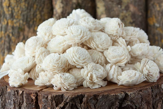 Bulk Belly Sola Flowers - SET OF 100 , Value Pack of Bali Sola Flowers
