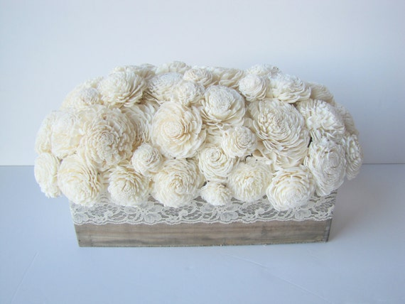 Rustic Keepsake Arrangment - Rectangular Floral Centerpiece - Balsa Wood Arrangemet - Rustic Centerpiece - Modern Floral