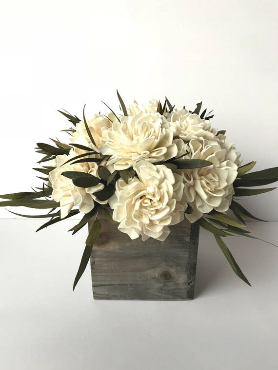 Dahlia Sola Flower Arrangement, Sola Flower Centerpiece, Sola Flower bouquet, Rustic Floral Arrangement