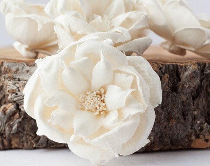 Old Garden Rose Sola Flowers - Set of 5 , Sola Flowers, Wood Sola Flowers, Balsa Wood Flowers, Craft Flowers, sola wood flowers