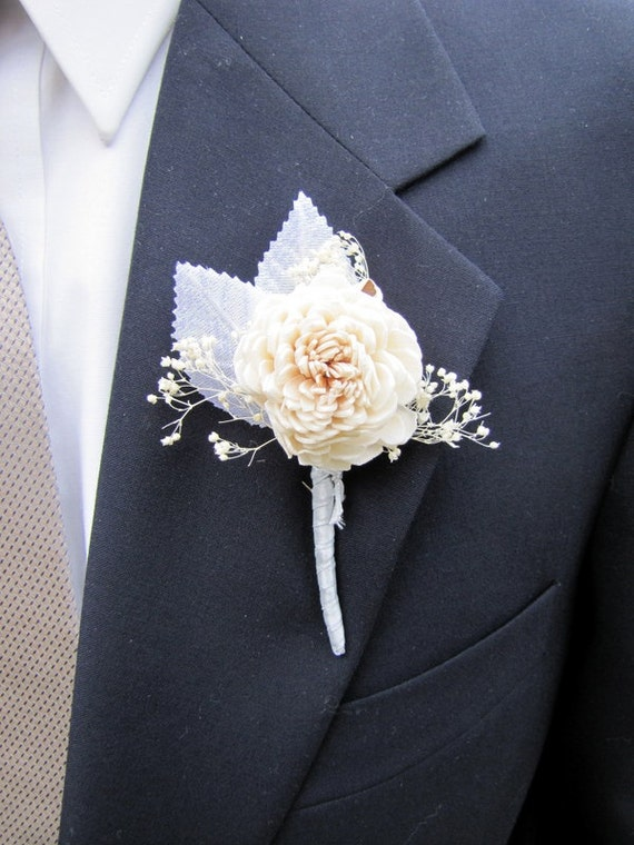 Boutonniere - Beach Feel Boutonniere - Neutral Boutonniere