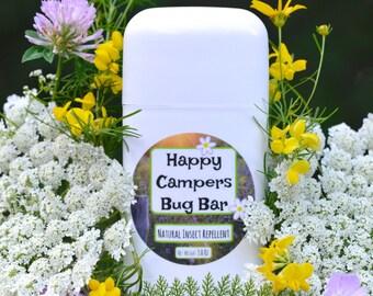 Happy Camper VEGAN Bug Bar- All Natural Solid Insect Repellent