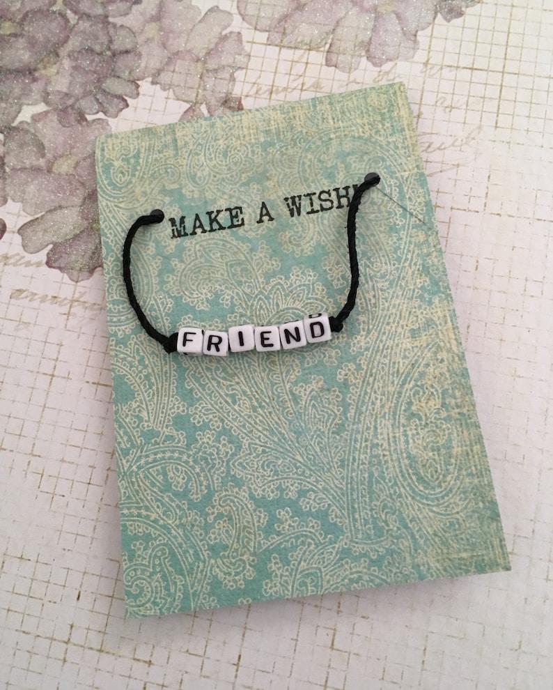 minimal bracelet Wish bracelet Charm bracelet -VSCO Bracelet- Girl gift stocking stuffer friendship bracelet