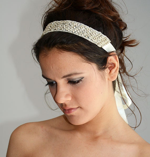 Wedding Headband Crystal Bridal Hair Pieces Bridal Vine  87e648d4dfa