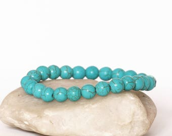 Turquoise Bracelet, Energy Bracelet, Blue Bracelet, Boho Bracelet, Bohemian Bracelet, Jewelry Gift, Women Bracelet, Men Bracelet, Turquoise