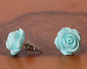 Rose Stud Earrings, Rose Earrings, Floral Earrings, Flower Earrings, Rose Lovers, Flowers Lovers, Gift For Mom, Mothers Gift, Sister, BFF