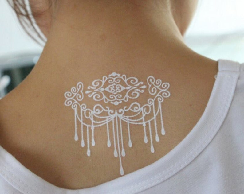 White Henna Tattoos Henna Tattoos White Lace Tattoos White | Etsy