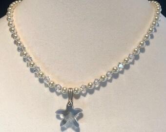 Swarovski Pearl and Starfish Necklace
