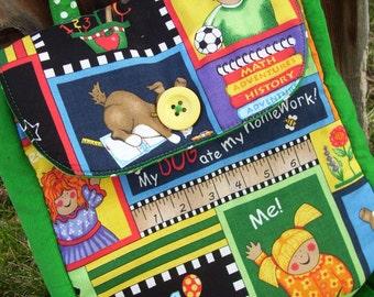 Toddler Backpack, School Themed Backpack, Kids Backpack, Preschool Backpack
