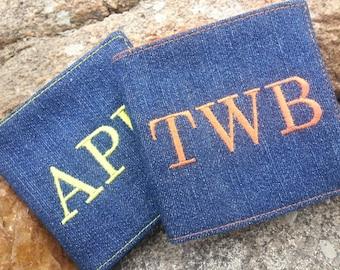 Denim Boy's Wallet,  Personalized Bi-Fold Wallet, Kid's Wallet, Fabric Wallet, First Wallet