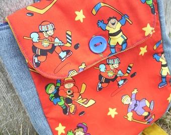 Hockey Toddler Backpack,  Boys Preschool Backpack, Hockey Bag, Toy Bag, Overnight Bag