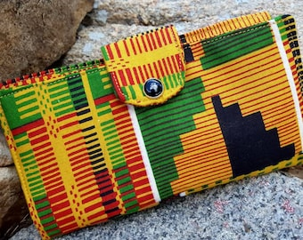 African Checkbook Cover, Fabric Coupon  Wallet, Checkbook case, Aztec Checkbook