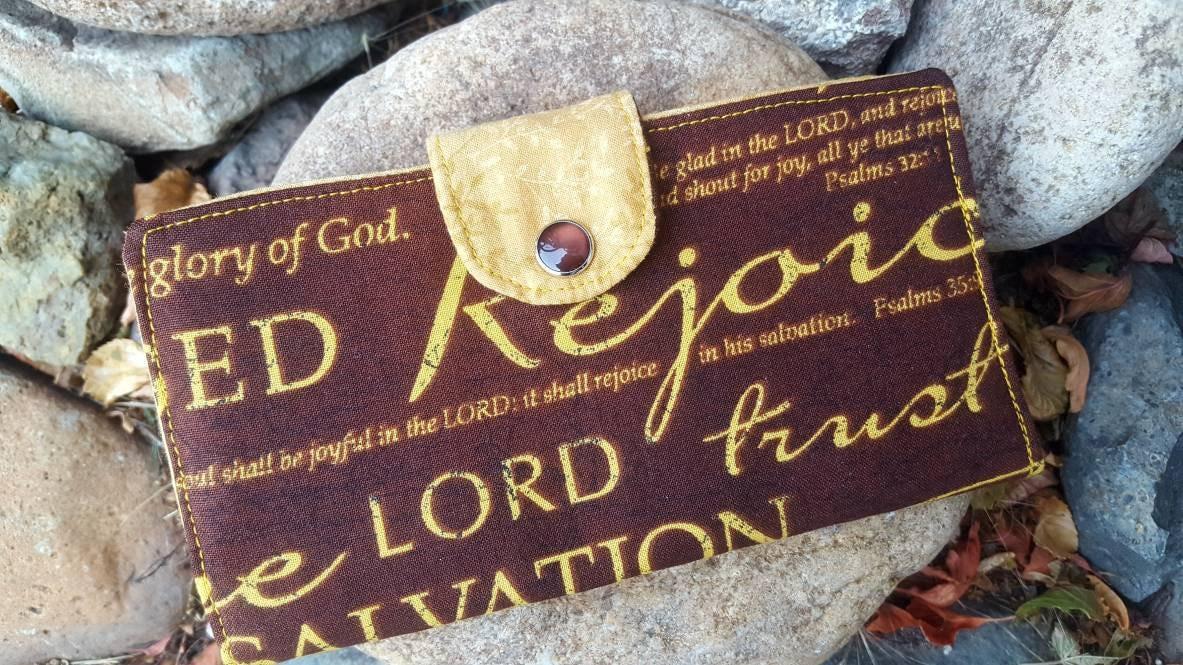 Scripture Checkbook Cover, Religious Coupon Wallet, Christian Checkbook  Cover