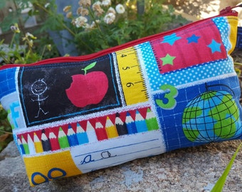 School  Themed  Pencil Case, School Accessory Bag, Teacher bag, Cosmetic Bag