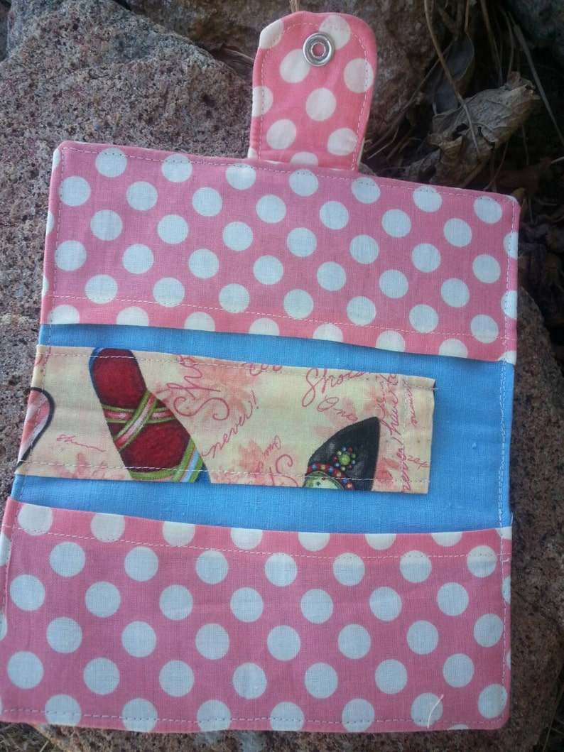 Fabric Checkbook Cover Coupon Wallet Shoe Wallet Shoe Checkbook Cover