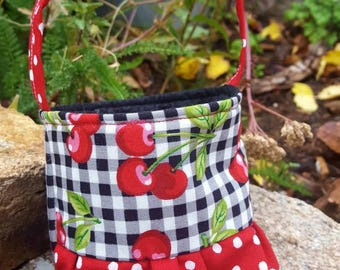Baby's First Purse,  Cherry Purse, Little Girl's Purse, Little Girl's First Purse, Tiny Cherry Purse, Newborn Gift, Shower Gift