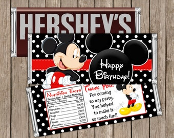instant download printable red minnie mouse hershey birthday etsy