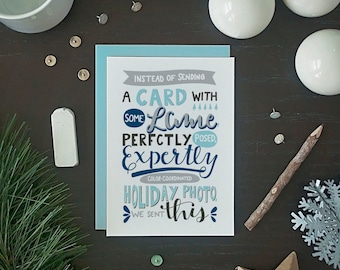 Funny Christmas Card - Funny Holiday Card - Funny Holiday Photo Card