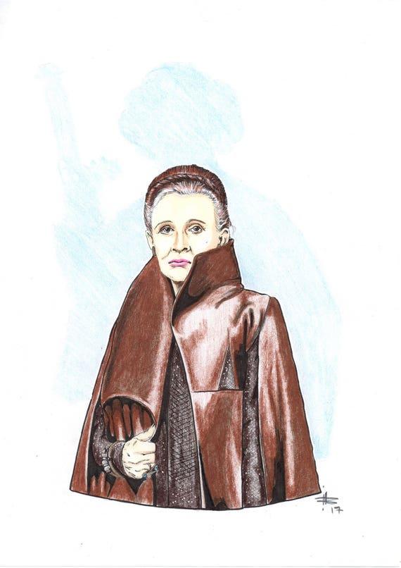 Princess Leia Star Wars The Last Jedi Sci Fi Nerd Etsy
