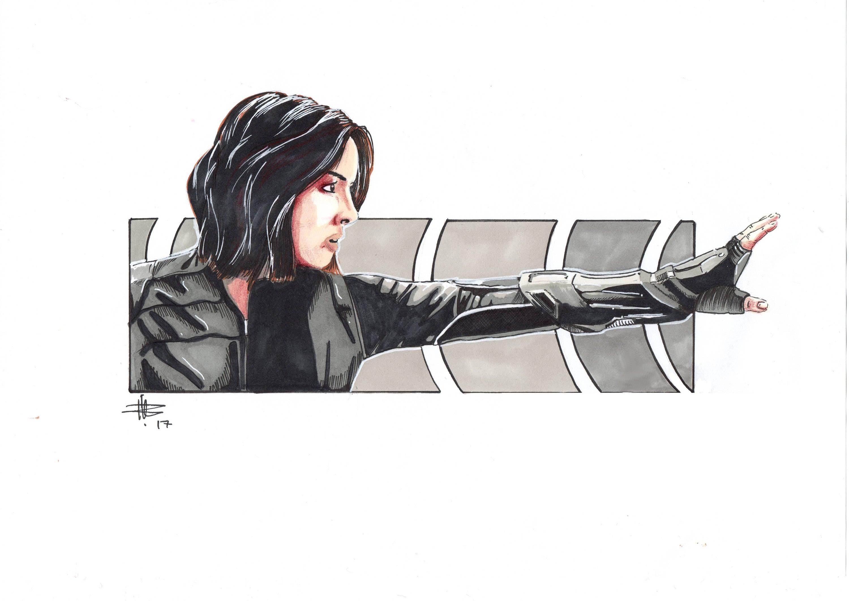 Agents Of Shield Agent Johnson Fan Art Marvel Fan Art Etsy