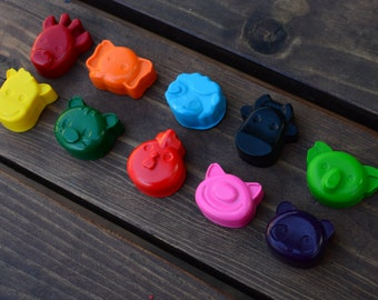 Animal Crayons set of 30 - Animal Party Favors - Zoo Party Favors - Farm Party Favors - Safari Party Favors - Animal Gifts For Kids - Toys