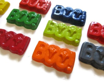 Boo Crayons set of 20 - Halloween Crayons - Halloween Party Favors - Halloween Treats - Kids Party Favors - BOO Party Favors - Ghost Crayons