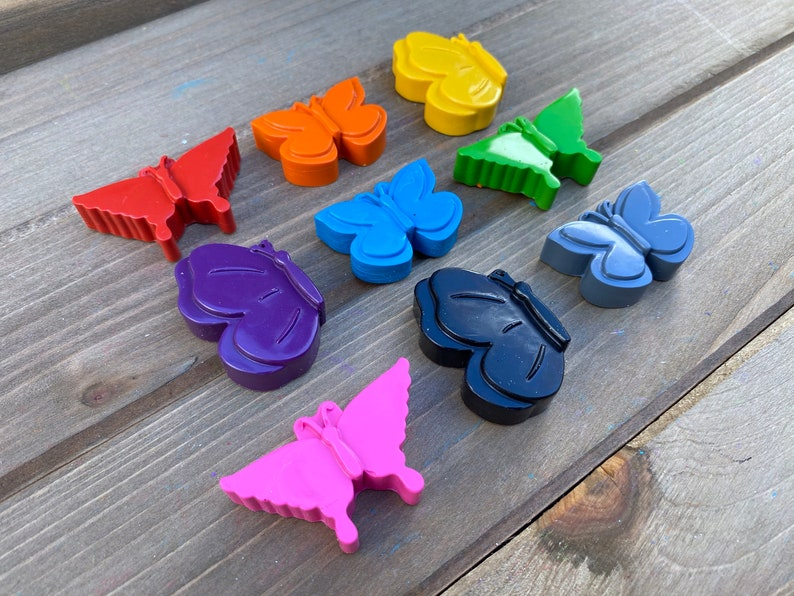 Butterfly Crayons 20 Butterfly Party Favors Stocking Stuffers Easter Kid Butterfly Birthday Party Gifts For Kids Kids Party Favors