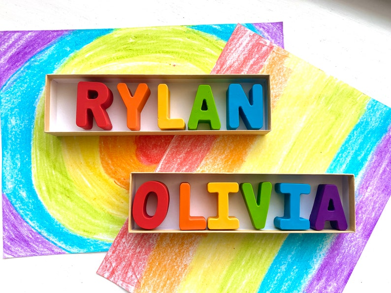 NAME Crayons  Kids Easter Gifts  Easter Gifts For Kids  image 0