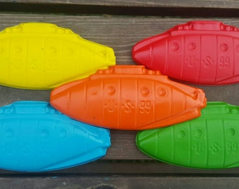 Submarine Crayons set of 10 - Submarine Party Favors - Submarine Party - Submarine Favor - Kids Party Favors - Kids Gifts - Classroom Favors