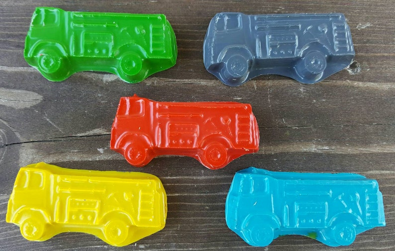 Fire Truck Birthday Party Favors Fireman Party Favors Classroom Favors Fire Truck Crayons 20 Fireman Party Fire Truck Party Favors