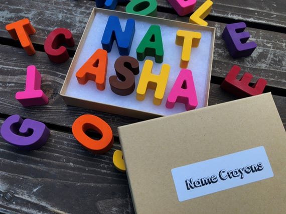 Name Crayons 7 Letters Personalized Gifts For Kids Unique Kids