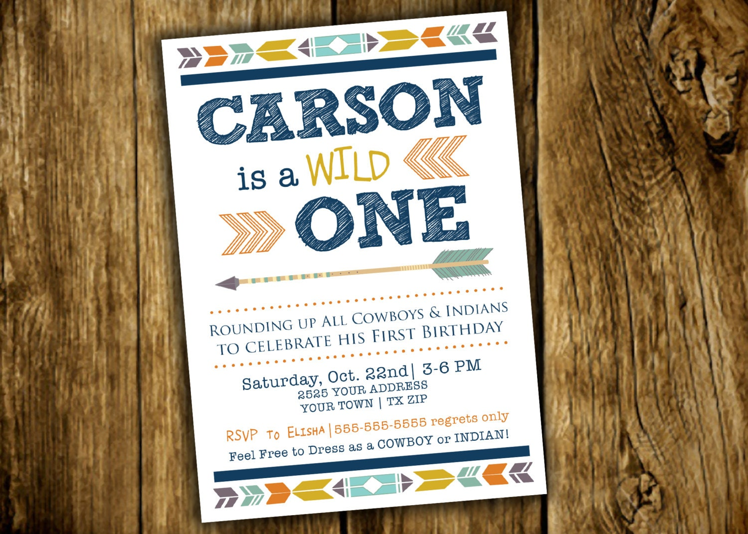 Wild One One Year First Birthday Cowboy and Indians Photo | Etsy
