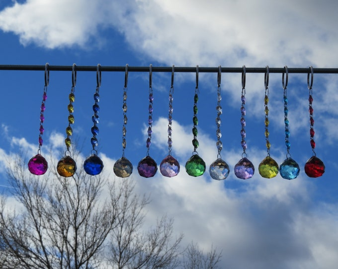 Sun catcher, Yard art, Rainbow of colors, Crystal prism's, Window art, Rear view mirror hanger, Gift idea, Suncatcher