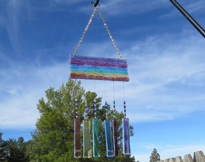 This rainbow wind chime will add color to any area of your yard or patio.  It will make the sweetest sound with just the slightest breeze.