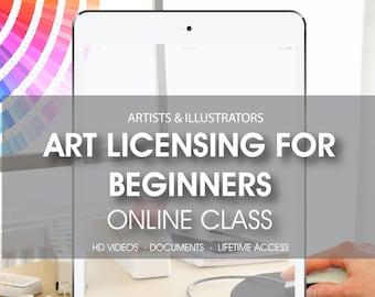 50% OFF SALE Art licensing for beginners online class, online workshop, artist and illustrator workshop, Art licensing for artists