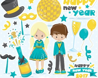 buy20get10 new year clipart commercial use new years clipart vector graphics party digital clip art party digital images cl1051