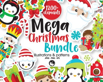 80 off sale christmas bundle graphic set christmas clipart commercial use christmas clipart vector graphics digital images
