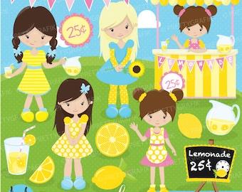 BUY20GET10 - Lemonade stand clipart commercial use, vector graphics, digital clip art, digital images - CL682