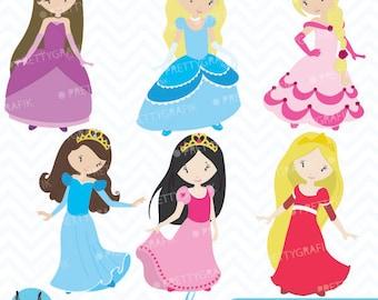 princess clipart etsy rh etsy com princess clipart black and white princesses clip art