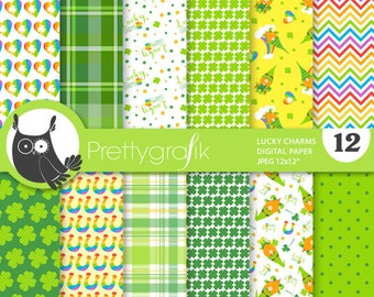 Lucky charms digital papers, commercial use,  scrapbook papers,  papers, background - PS847