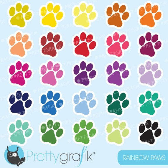 Buy20get10 Paws Clipart Commercial Use Dog Paws Vector Graphics
