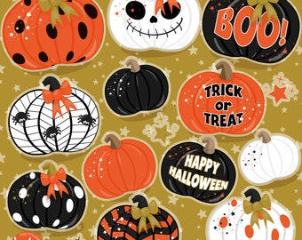 Decorative Pumpkin, clipart, clipart commercial use,  vector graphics,  clip art, digital images -  CL1486