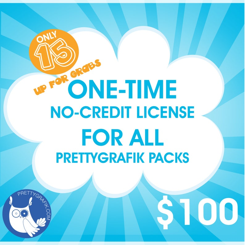 ONE TIME Prettygrafik no credit required commercial license  image 0